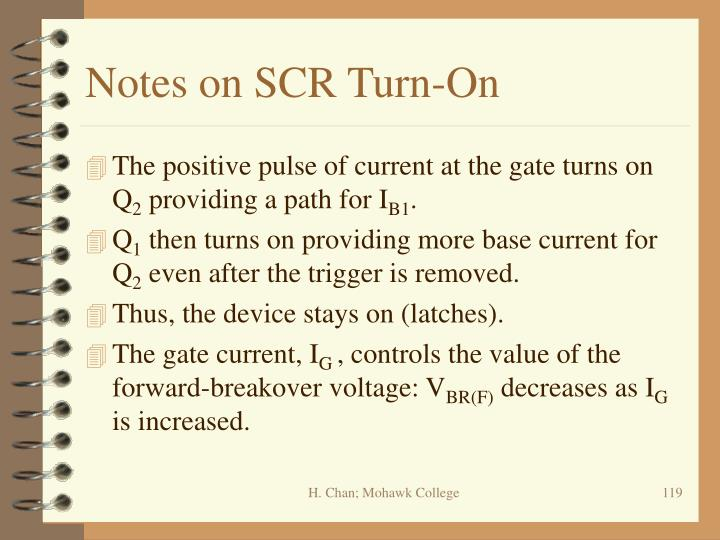 Notes on SCR Turn-On