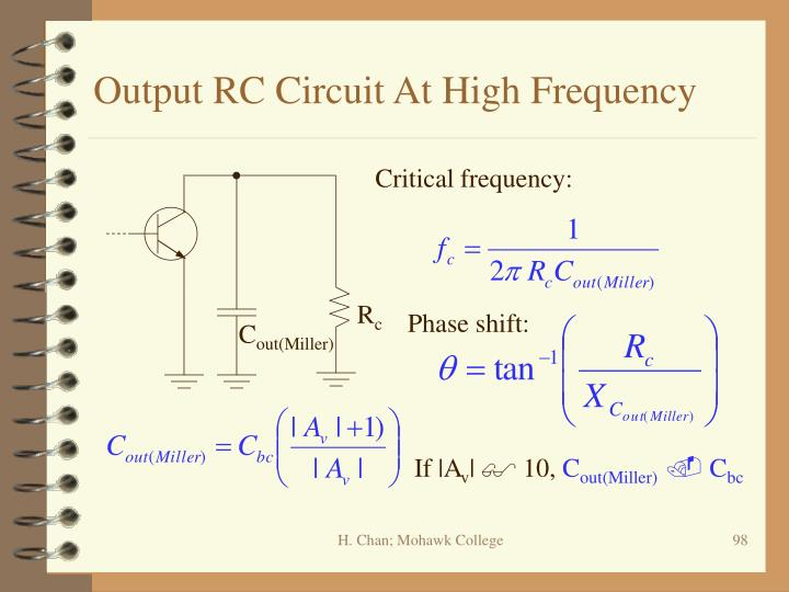 Output RC Circuit At High Frequency
