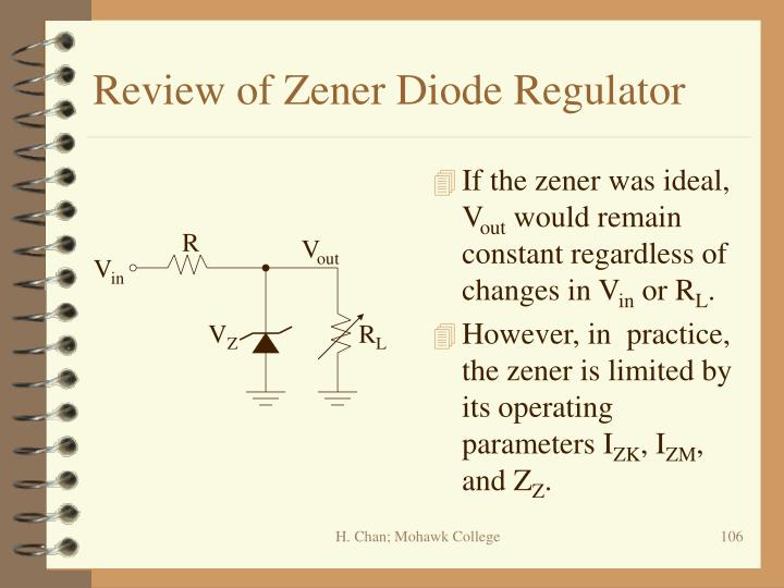 Review of Zener Diode Regulator