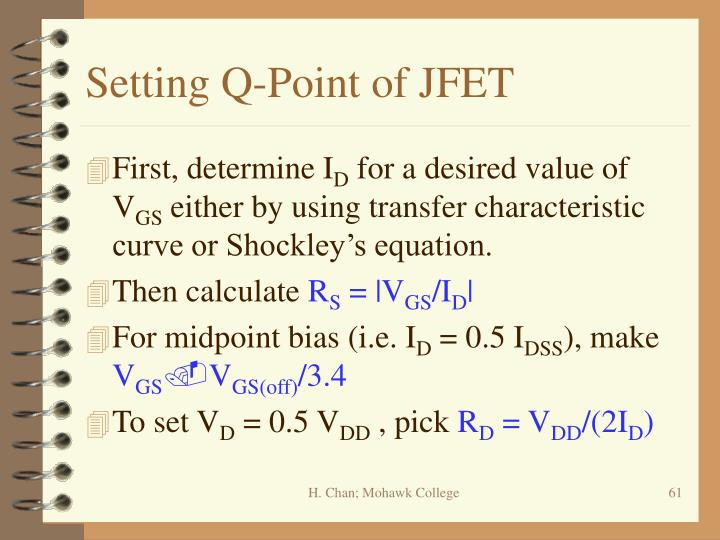 Setting Q-Point of JFET