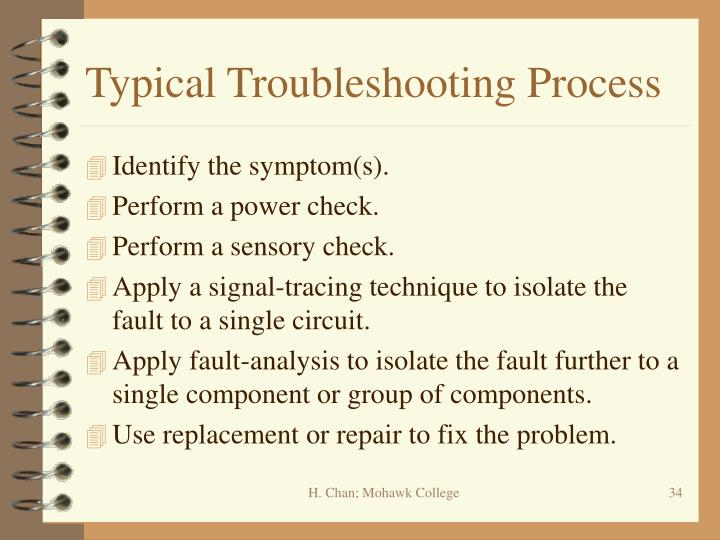 Typical Troubleshooting Process