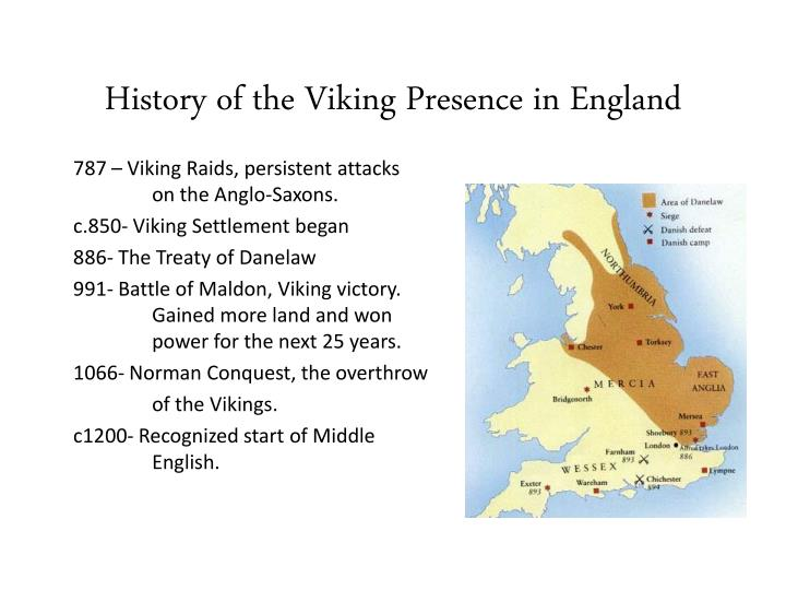History of the Viking Presence in England