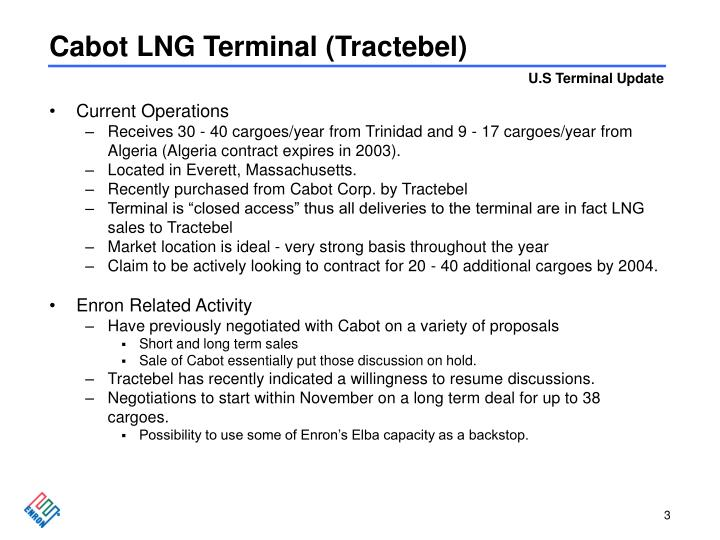 Cabot lng terminal tractebel