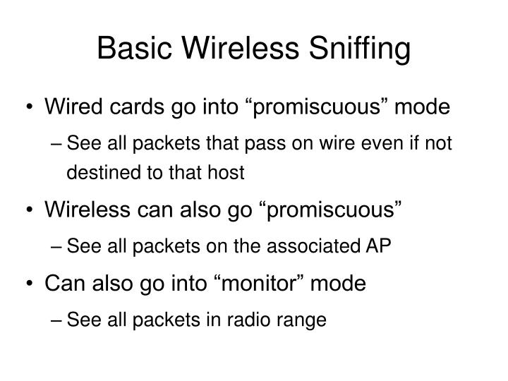 Basic Wireless Sniffing