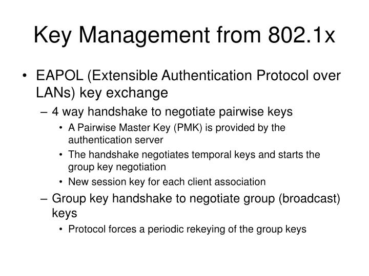 Key Management from 802.1x