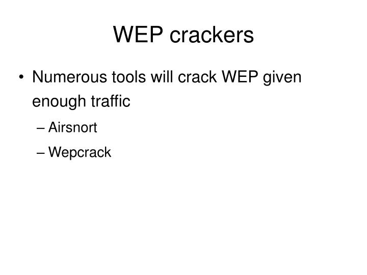 WEP crackers