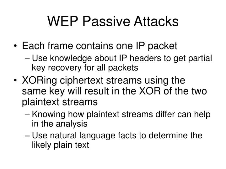 WEP Passive Attacks