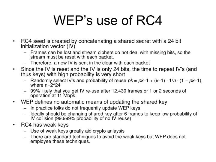WEP's use of RC4