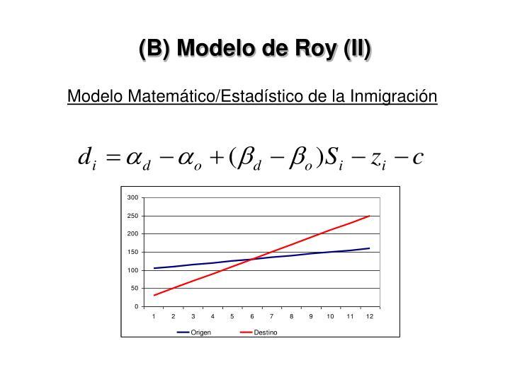 (B) Modelo de Roy (II)