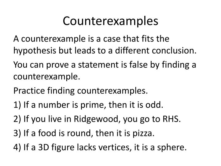 Counterexamples