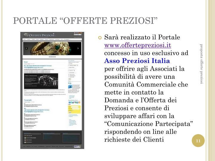 """PORTALE """"OFFERTE PREZIOSI"""""""