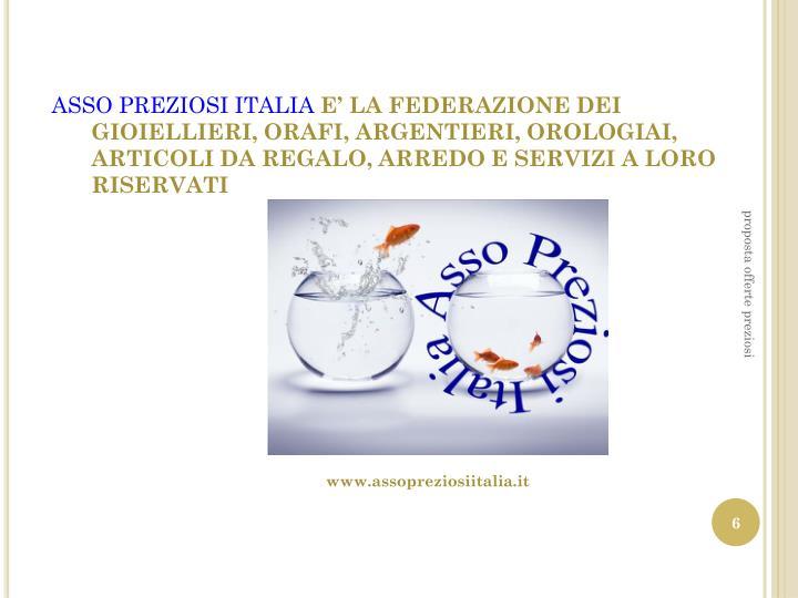 ASSO PREZIOSI ITALIA