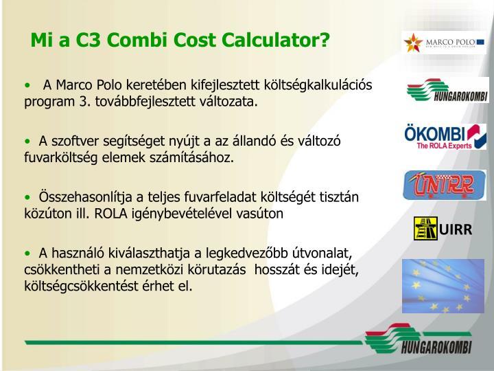 Mi a C3 Combi Cost Calculator?