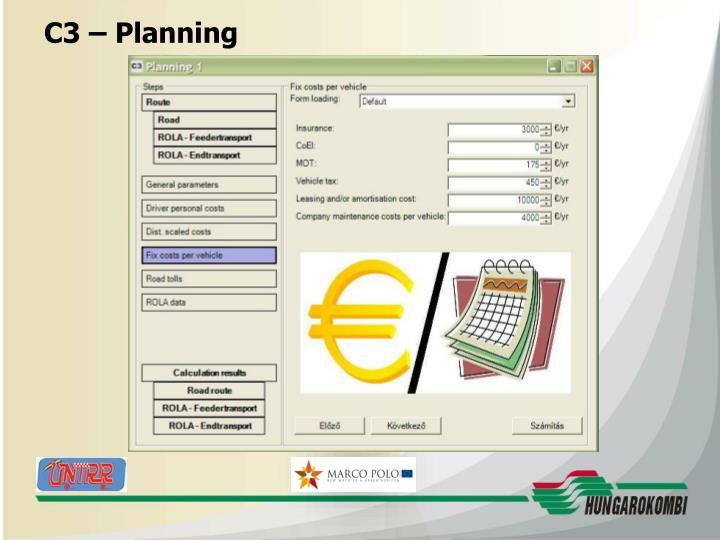 C3 – Planning