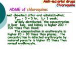 adme of chloroquine