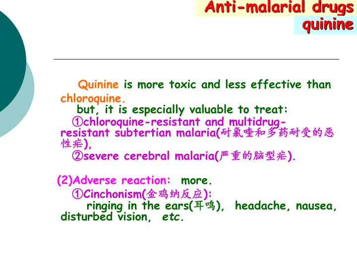 Anti-malarial drugs