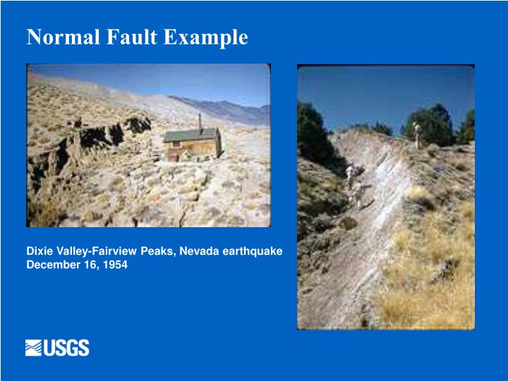 Normal Fault Example