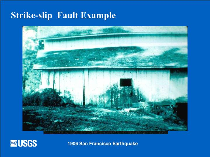 Strike-slip  Fault Example