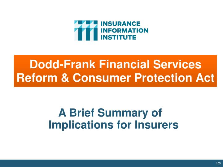 Dodd-Frank Financial Services Reform & Consumer Protection Act