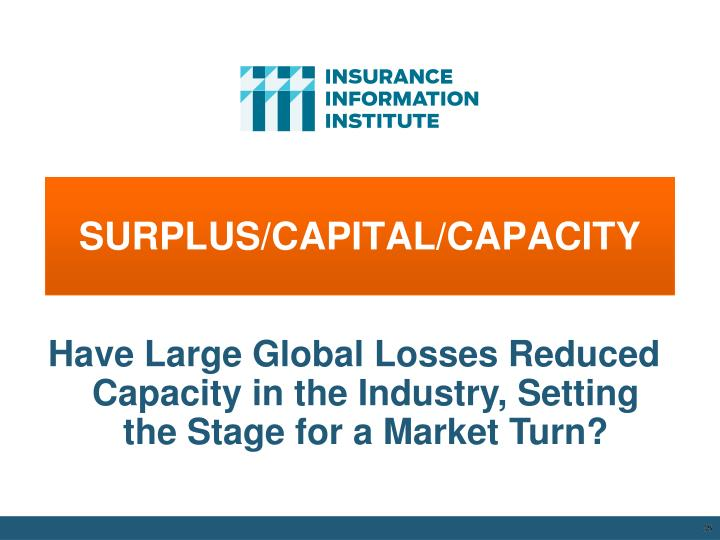 SURPLUS/CAPITAL/CAPACITY