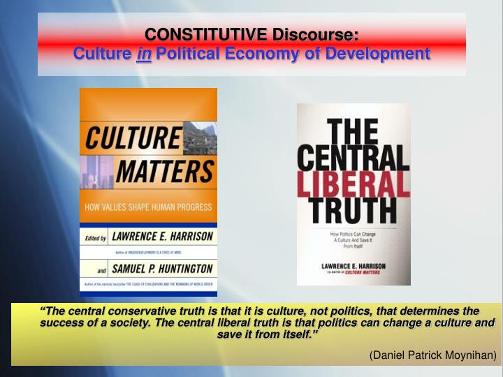 CONSTITUTIVE Discourse: