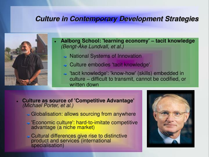Culture in Contemporary Development Strategies