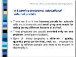 e learning programs educational internet portals