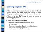 e learning programs sw