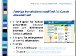 foreign translations modified for czech environment