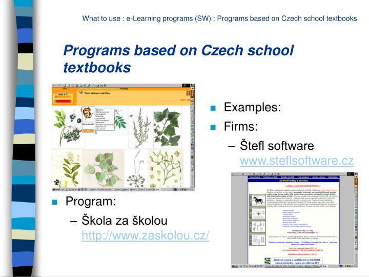 Programs based on Czech school textbooks