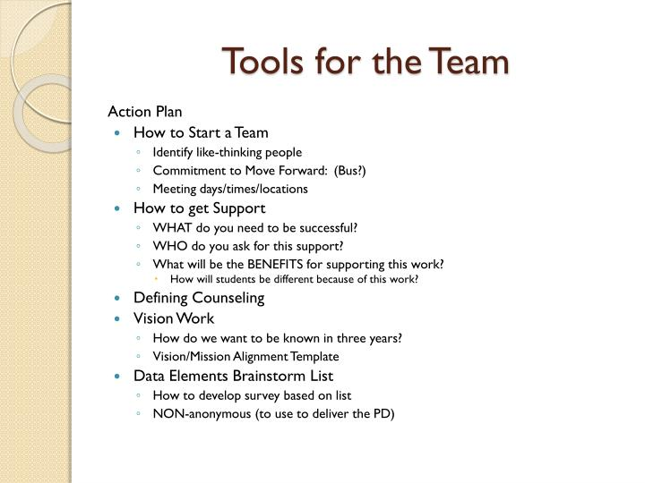 Tools for the Team