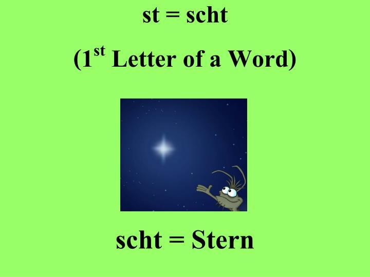 st = scht