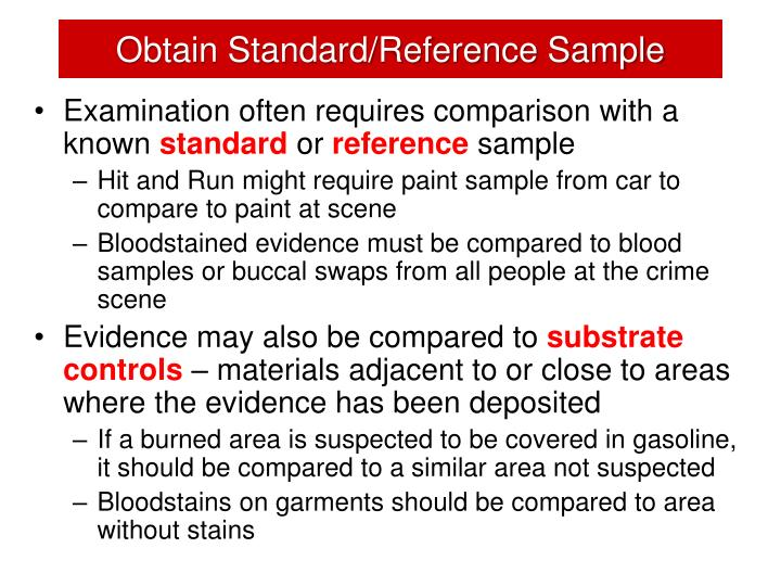 Obtain Standard/Reference Sample