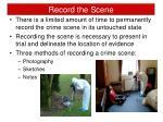 record the scene