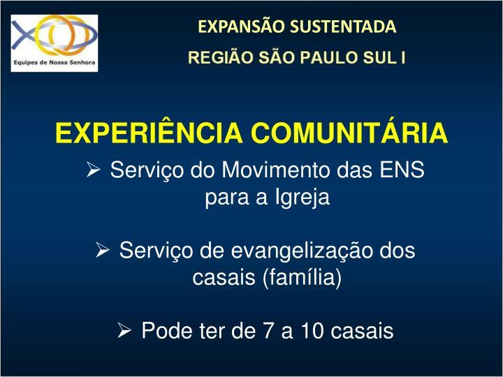 EXPERINCIA COMUNITRIA