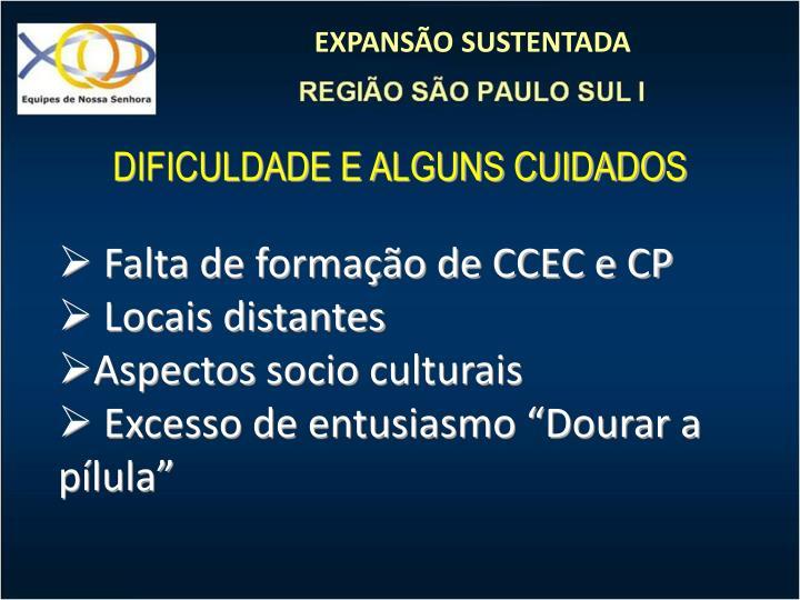 DIFICULDADE E ALGUNS CUIDADOS