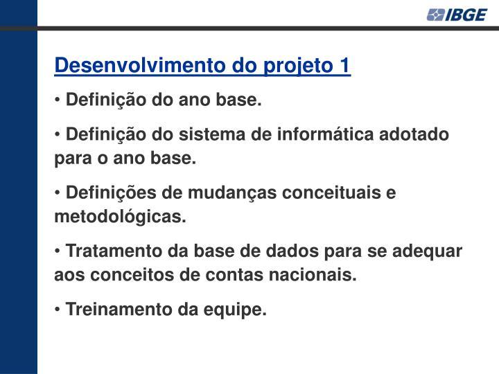 Desenvolvimento do projeto 1