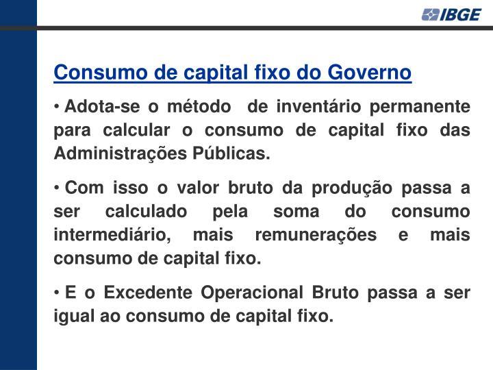 Consumo de capital fixo do Governo