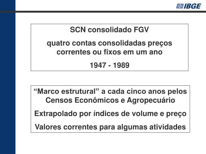 SCN consolidado FGV