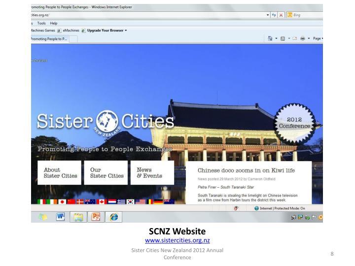 SCNZ Website