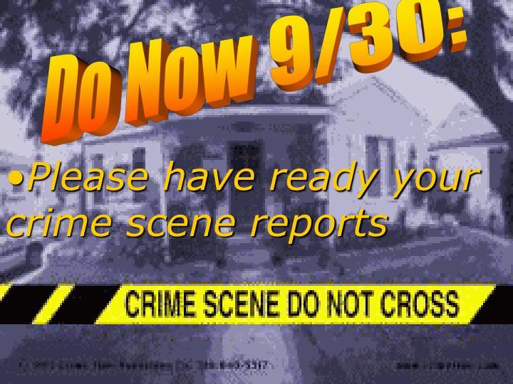 Do Now 9/30: