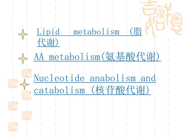 Lipid   metabolism  (