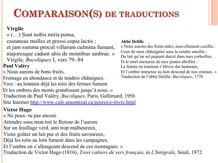 Comparaison(s