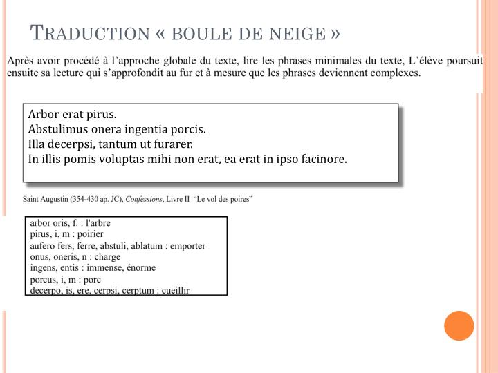Traduction « boule de neige »