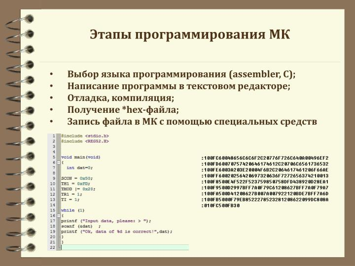 Этапы программирования МК