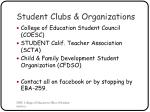 student clubs organizations