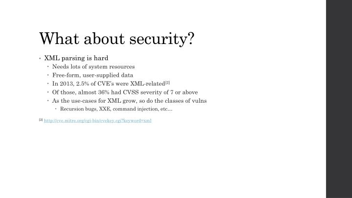 What about security?