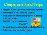 chaperone field trips