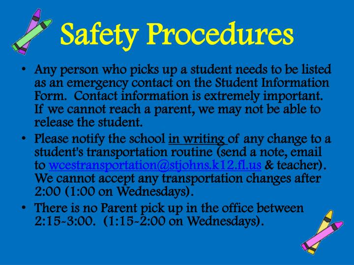 Safety Procedures