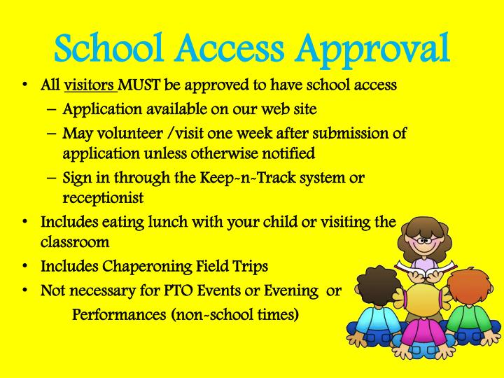 School Access Approval